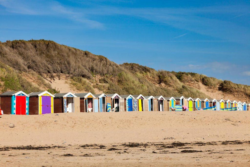 beaches uk, beach huts, explore the uk